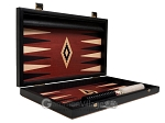 picture of 15-inch Black Backgammon Set - Red Field (10 of 12)