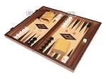 15-inch Oak Backgammon Set - Black