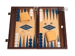 15-inch Oak Backgammon Set - Blue - Item: 2866
