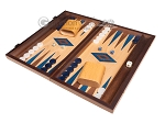 picture of 15-inch Oak Backgammon Set - Blue (3 of 12)