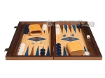 picture of 15-inch Oak Backgammon Set - Blue (4 of 12)