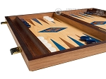 picture of 15-inch Oak Backgammon Set - Blue (5 of 12)