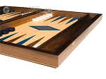 picture of 15-inch Oak Backgammon Set - Blue (6 of 12)