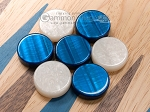 picture of 15-inch Oak Backgammon Set - Blue (7 of 12)