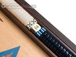 picture of 15-inch Oak Backgammon Set - Blue (8 of 12)