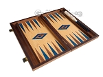 picture of 15-inch Oak Backgammon Set - Blue (9 of 12)