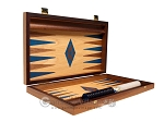 picture of 15-inch Oak Backgammon Set - Blue (10 of 12)