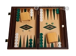 picture of 15-inch Oak Backgammon Set - Green (1 of 12)