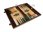 picture of 15-inch Oak Backgammon Set - Green (2 of 11)