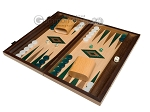 15-inch Oak Backgammon Set - Green - Item: 2865