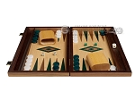 picture of 15-inch Oak Backgammon Set - Green (3 of 11)