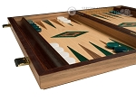 picture of 15-inch Oak Backgammon Set - Green (4 of 11)