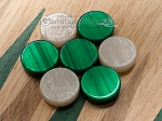 picture of 15-inch Oak Backgammon Set - Green (6 of 11)