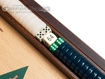 picture of 15-inch Oak Backgammon Set - Green (8 of 12)
