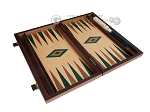 picture of 15-inch Oak Backgammon Set - Green (8 of 11)