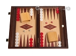 15-inch Oak Backgammon Set - Red - Item: 2864