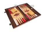 picture of 15-inch Oak Backgammon Set - Red (2 of 12)
