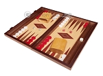 picture of 15-inch Oak Backgammon Set - Red (3 of 12)