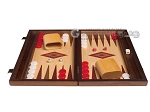 picture of 15-inch Oak Backgammon Set - Red (4 of 12)
