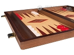 picture of 15-inch Oak Backgammon Set - Red (5 of 12)