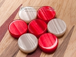 picture of 15-inch Oak Backgammon Set - Red (7 of 12)