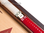 picture of 15-inch Oak Backgammon Set - Red (8 of 12)