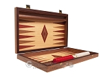 picture of 15-inch Oak Backgammon Set - Red (10 of 12)