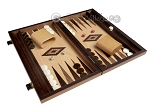 picture of 15-inch Olive Root Backgammon Set - Oak Field (2 of 12)