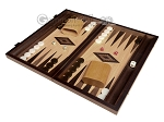 picture of 15-inch Olive Root Backgammon Set - Oak Field (1 of 11)