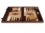 picture of 15-inch Olive Root Backgammon Set - Oak Field (4 of 12)