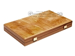 15-inch Olive Root Backgammon Set - Oak Field - Item: 2885