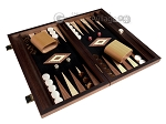 picture of 15-inch Olive Root Backgammon Set - Black Field (2 of 12)