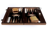 picture of 15-inch Olive Root Backgammon Set - Black Field (3 of 11)