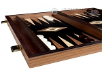 picture of 15-inch Olive Root Backgammon Set - Black Field (4 of 11)