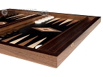 picture of 15-inch Olive Root Backgammon Set - Black Field (5 of 11)