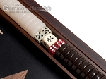 picture of 15-inch Olive Root Backgammon Set - Black Field (7 of 11)