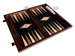 picture of 15-inch Olive Root Backgammon Set - Black Field (9 of 12)
