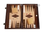picture of 15-inch White Zebrano Backgammon Set - Oak Field (1 of 12)