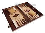 picture of 15-inch White Zebrano Backgammon Set - Oak Field (2 of 12)