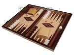 picture of 15-inch White Zebrano Backgammon Set - Oak Field (1 of 11)