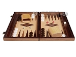 picture of 15-inch White Zebrano Backgammon Set - Oak Field (3 of 11)