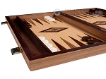 picture of 15-inch White Zebrano Backgammon Set - Oak Field (5 of 12)