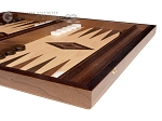 picture of 15-inch White Zebrano Backgammon Set - Oak Field (6 of 12)