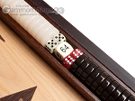 picture of 15-inch White Zebrano Backgammon Set - Oak Field (7 of 11)