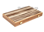 15-inch White Zebrano Backgammon Set - Oak Field - Item: 2893