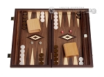 picture of 15-inch White Zebrano Backgammon Set - Walnut Field (1 of 12)