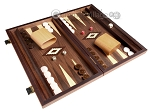 picture of 15-inch White Zebrano Backgammon Set - Walnut Field (2 of 12)