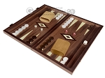 15-inch White Zebrano Backgammon Set - Walnut Field - Item: 2894