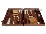 picture of 15-inch White Zebrano Backgammon Set - Walnut Field (3 of 11)