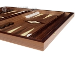 picture of 15-inch White Zebrano Backgammon Set - Walnut Field (5 of 11)